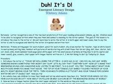 Duh! It's D! Lesson Plan