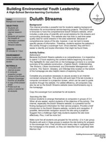 Duluth Streams Lesson Plan