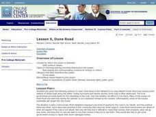 Dune Road Lesson Plan
