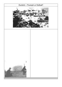 Dunkirk - Triumph and Defeat Worksheet