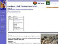 Dust in the Wind; Chemicals in the Water Lesson Plan
