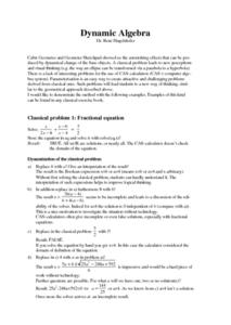 Dynamic Algebra Lesson Plan