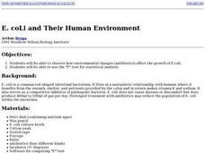 E. coli and Their Human Environment Lesson Plan