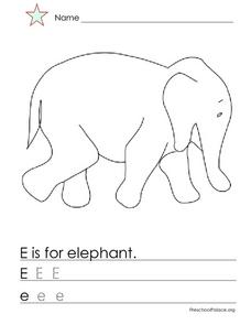 E Is For Elephant Lesson Plan