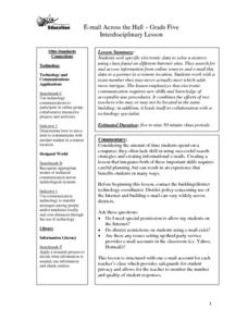E-mail Across the Hall Lesson Plan