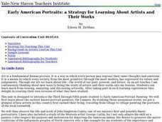 Early American Portraits: a Strategy for Learning About Artists and Their Works Lesson Plan