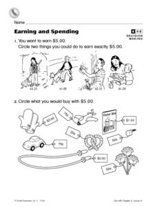 Earning and Spending Worksheet