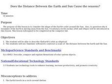 Earth and Sun's Distance Lesson Plan