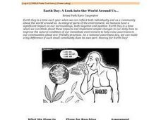 Earth Day: a Look Into the World Around Us Lesson Plan