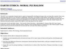 Earth Ethics: Moral Puralism Lesson Plan