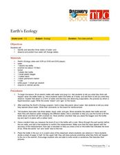 Earth's Ecology Lesson Plan