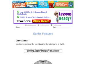 Earth's Features Worksheet