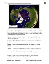Earth's Magnetic Pole Worksheet