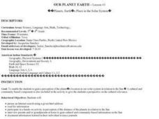Earth's Place in the Solar System Lesson Plan