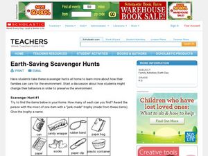 Earth-Saving Scavenger Hunts Lesson Plan