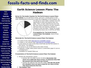 Earth Science Lesson Plans - The Hadean Lesson Plan