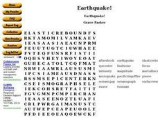 Earthquake Worksheet