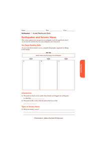 Printables Earthquakes And Seismic Waves Worksheet earthquakes and seismic waves 6th 10th grade worksheet lesson worksheet
