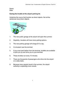 Easing the Trouble At the Airport Parking Lot Worksheet