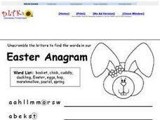 Easter Anagram 2 Worksheet