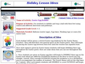 Easter Egg Dribble Lesson Plan