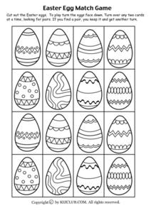 Easter Egg Match Game Lesson Plan