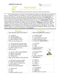 math worksheet : easter island 3rd grade worksheet  lesson pla  : Math Worksheet Island