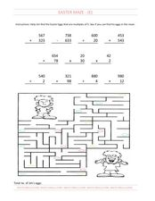 Easter Maze Worksheet