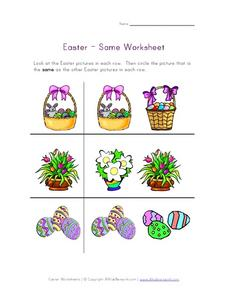 Easter – Same Worksheet Worksheet
