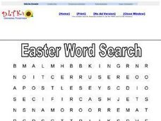 Easter Word Search: Religious 2 Worksheet