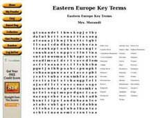 Eastern Europe Key Terms Worksheet