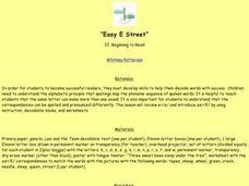 """Easy E Street"" Lesson Plan"