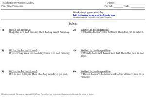 Worksheets Conditional Statement Worksheet With Answers easy worksheet conditional statements 9th 12th grade worksheet
