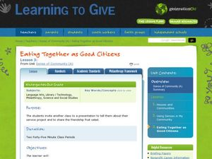 Eating Together as Good Citizens Lesson Plan