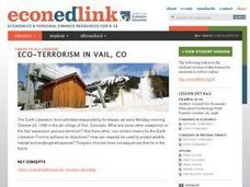 Eco-terrorism in Vail, CO Lesson Plan