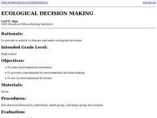 Ecological Decision Making Lesson Plan