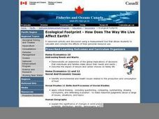 Ecological Footprint--How Does The Way We Live Affect Earth? Lesson Plan