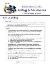 Ecology & Conservation Lesson Plan