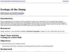 Ecology of the Dump Lesson Plan