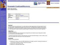 Economic Crash and Recovery Lesson Plan