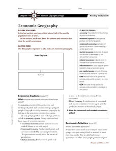 Economic Geography Worksheet
