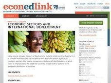 Economic Sectors and International Development Lesson Plan
