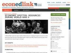 Economic Spotter: Resources During World War II Lesson Plan