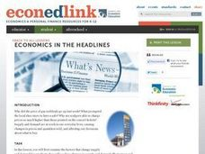Economics in the Headlines: Supply and Demand Lesson Plan
