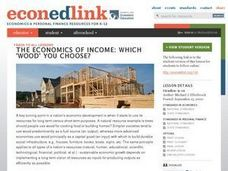 "Economics of Income: Which ""Wood"" You Choose? Lesson Plan"