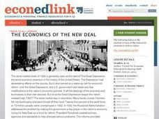 Economics of the New Deal Lesson Plan