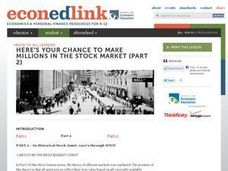 Economics: Stock Market Investing Lesson Plan