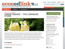 Economics: The Lemonade Stand Lesson Plan