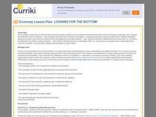 Economy Lesson Plan: Looking for the Bottom Lesson Plan