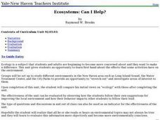 Ecosystems: Can I Help? Lesson Plan